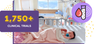 Baby on hospital bed